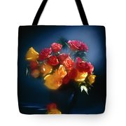 Roses In The Blue Tote Bag