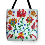 Roses In The Folk Style Tote Bag