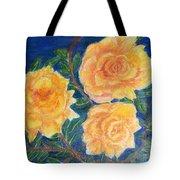Roses In Yellow Tote Bag