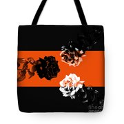 Roses Interact With Orange Tote Bag