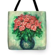 Roses Oil Painting  Tote Bag