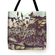 Roses On Hill Tote Bag