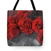 Roses On Lace Tote Bag