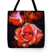 Roses Painted And Drawn Tote Bag