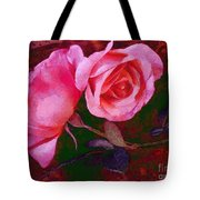 Roses Silked Pink Vegged Out Tote Bag