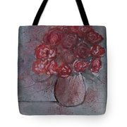 Roses Still Life Watercolor Floral Painting Poster Print Tote Bag
