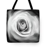 Rose's Whisper Black And White Tote Bag