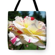 Roses White Pink Yellow Rose Flowers 3 Rose Garden Art Baslee Troutman Tote Bag