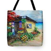 Rosies Beach Cafe Tote Bag