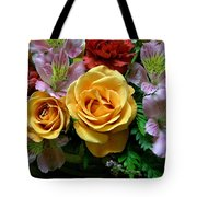 Rosy Bouquet Tote Bag