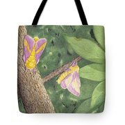 Rosy Maple Moth Gathering Tote Bag