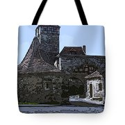 Rothenburg City Gate 4 Tote Bag