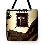 Rothenburg Hotel Sign - Digital Tote Bag
