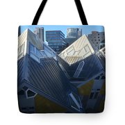 Rotterdam - The Cube Houses And Skyline Tote Bag