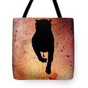 Rottie On Red Tote Bag