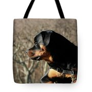 Rottie Profile Tote Bag