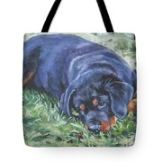 Rottweiler Puppy Tote Bag