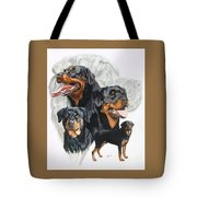 Rottweiler W/ghost  Tote Bag