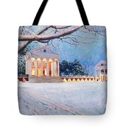 Rotunda On A Snowy Night Tote Bag