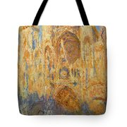 Rouen Cathedral, Facade, Sunset Tote Bag
