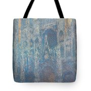 Rouen Cathedral, The Portal, Morning Light Tote Bag