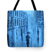 Rouen In The Rain Tote Bag