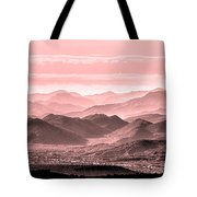 Rouge Hills Of The Tonto Tote Bag
