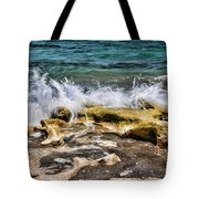 Rough Seas At Blowing Rock Tote Bag