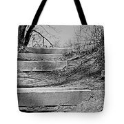 Rough Steps Up The Riverbank Tote Bag