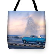 Rough Surf On The Malecon Tote Bag