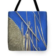 Round Blue Tote Bag