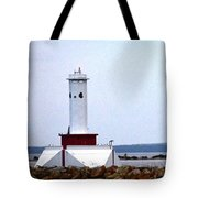 Round Island Lights Tote Bag