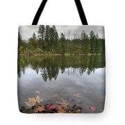 Round Lake At Lacamas Park In Fall Tote Bag