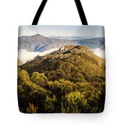 Round Mountain Lookout Tote Bag
