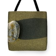 Round Rock And Shadow On Sand Dollar Tote Bag