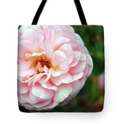 Round Ruffled And Pink Tote Bag