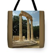 Round Temple At Olympia Tote Bag