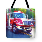 Round Top Vol. Fire Co. Inc. New York 6 Tote Bag