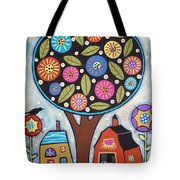 Round Tree Tote Bag