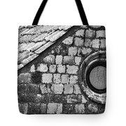 Round Window - Black And White Tote Bag