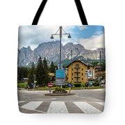 Roundabout Cortina D'ampezzo  Tote Bag
