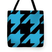 Rounded Houndstooth Black Background 02-p0123 Tote Bag