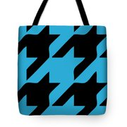 Rounded Houndstooth Black Pattern 02-p0123 Tote Bag