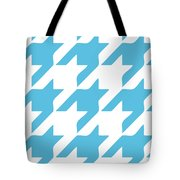 Rounded Houndstooth White Background 03-p0123 Tote Bag