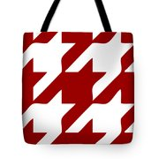 Rounded Houndstooth White Pattern 02-p0123 Tote Bag