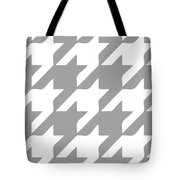 Rounded Houndstooth White Pattern 03-p0123 Tote Bag