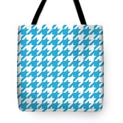Rounded Houndstooth White Pattern 09-p0123 Tote Bag