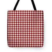 Rounded Houndstooth White Pattern 18-p0123 Tote Bag