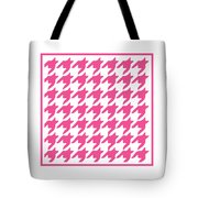 Rounded Houndstooth With Border In French Pink Tote Bag