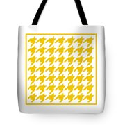Rounded Houndstooth With Border In Mustard Tote Bag